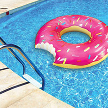 Flotador gigante Donuts rosa - Ítem1
