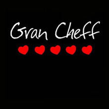 Delantal negro Gran Cheff 5 corazones - Ítem1