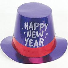 Chistera de cartón Happy New Year metalizada de colores - Ítem4