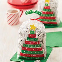 Bolsas Árbol Navidad frases para golosinas y galletas Wilton, Pack 20 u. - Ítem1