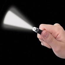 Llavero puntero láser, linterna Led y touch pen negro - Ítem3