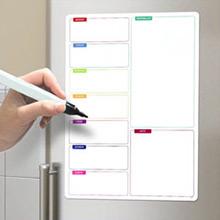 Pizarra magnética semanal y lista de la compra con rotulador - Ítem1