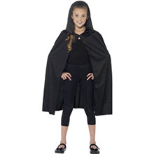 Capa negra con capucha infantil - Ítem1