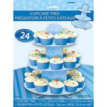 Bandeja cupcakes 3 pisos cartón azul cielo - Ítem1