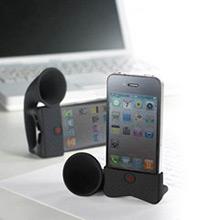 Amplificador iPhone 4 retro negro tipo cuerno - Ítem1