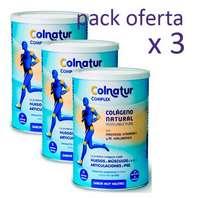 Colnatur Complex Colágeno + Ácido Hialurónico + Magnesio + Vitamina C sabor muy neutro 330 g Pack x 3 unidades