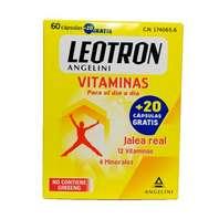 Leotron Vitaminas con Jalea Real, 12 Vitaminas y 4 Minerales, 60 cápsulas + 20 gratis