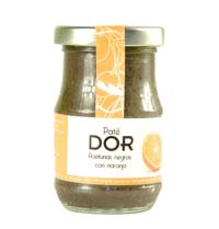BLACK OLIVE PATE WITH ORANGE DOR 140GR.