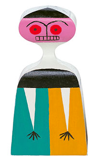 Muñeca de madera Wooden Dolls, nº 3, diseño de Alexander Girard para Vitra.