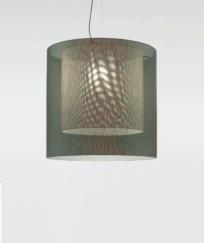 Lámpara Moaré Doble Pantalla