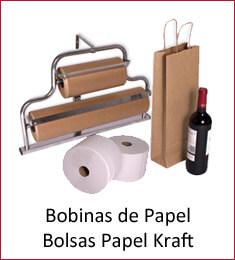 Bolsas y bobinas de Papel