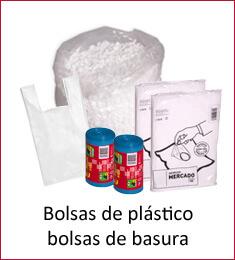 Bolsas, sacos, bobinas de plástico y basura