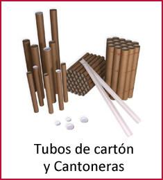 Tubos de cartón y cantoneras
