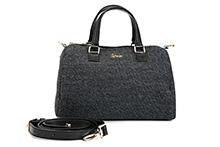 Bolso de lana color gris. Asas cortas y asa larga. (A28xH20xF16)