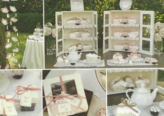 Cajitas tetera detalles boda en armario