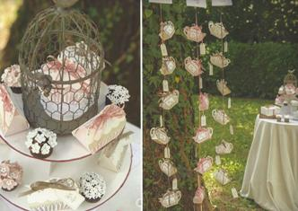 Cajitas tetera detalles elegantes boda en armario