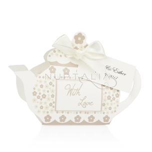 Cajita tetera detalles de boda originales obsequios invitados cajitas peladillas envoltorios regalitos baratos