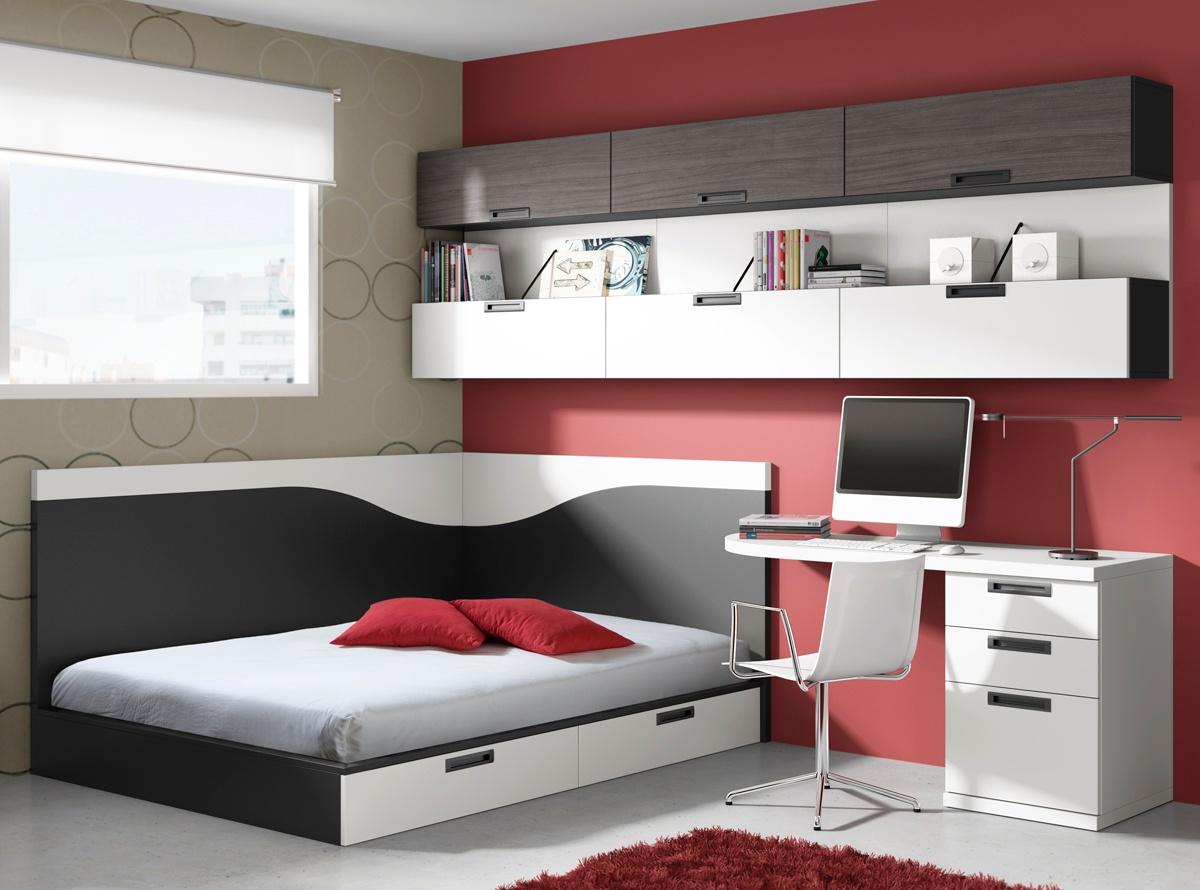 Dormitorio kobe dormitorios juveniles muebleslafabrica for Habitaciones juveniles cama 105