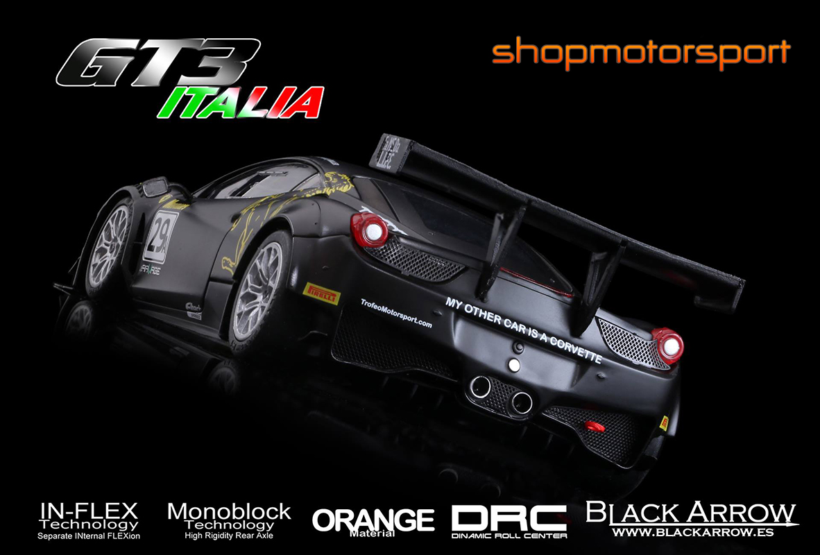 FERRARI 458 GT3 ITALIA / BLACK ARROW BACM02C / JIM MANOLIOS-IVAN CAPELLI-RYAN MILLER