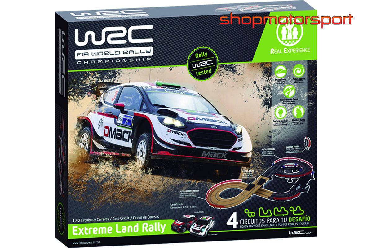 SLOT TRACK SET 1/43 WRC EXTREME LAND RALLY / FABRICA DE JUGUETES 91001 / CITROEN DS3 WRC-FORD FIESTA WRC
