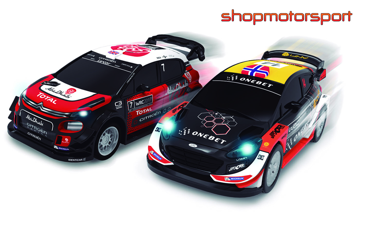 SLOT TRACK SET 1/43 WRC ICE RALLY CUP / FABRICA DE JUGUETES 91000 / CITROEN DS3 WRC-FORD FIESTA WRC