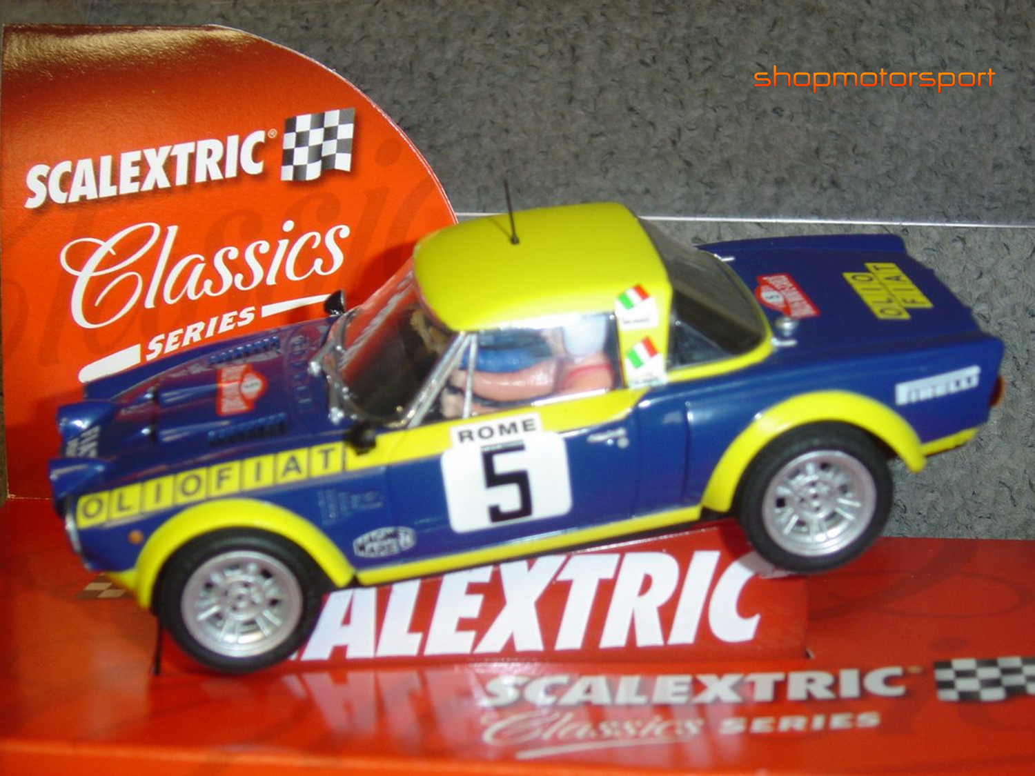 FIAT 124 ABARTH SPIDER Gr.4 / SCALEXTRIC ALTAYA / ROBERTO CAMBIAGHI-BRUNO SCABINI