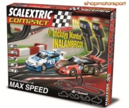 SLOT SET SCALEXTRIC COMPACT C10166S500 MAX SPEED WIRELESS / PORSCHE GT3 CUP