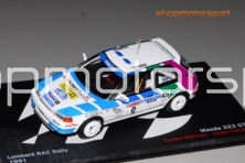 MAZDA 323 GTX / IXO PROMOCIONAL / TOMMI MAKINEN-SEPPO HARJANNE // OUT OF STOCK