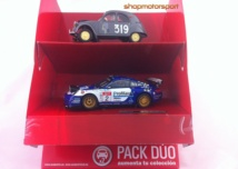 PACK DUO SCALEXTRIC A10170S300 PORSCHE 911 GT3 / SERGIO VALLEJO-DIEGO VALLEJO + CITROEN 2CV // OUT OF STOCK