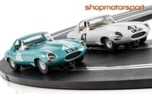 JAGUAR E-TYPE / SCALEXTRIC SUPERSLOT 3898A (PACK) / GRAHAM HILL / ROY SALVADORI
