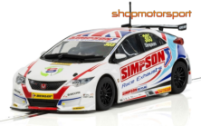 HONDA CIVIC TYPE R / SCALEXTRIC SUPERSLOT 3915 / MATT SIMPSON