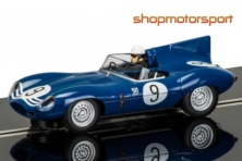 JAGUAR D-TYPE / SCALEXTRIC SUPERSLOT 3730 / IVOR BUEB-JOCK LAWRENCE