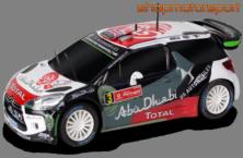 CITROEN DS3 WRC / SCALEXTRIC COMPACT C10231X300 / KRIS MEEKE-PAUL NAGLE