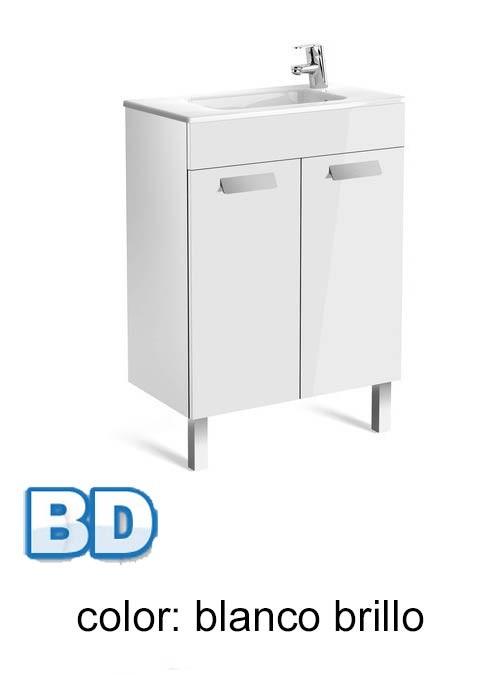 Mueble Baño Blanco Fondo Reducido:Mueble de baño Roca Unik Debba 2 puertas fondo reducido