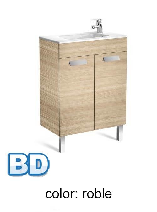 Mueble Baño Roble GrisMueble de baño Roca Unik Debba 2 puertas