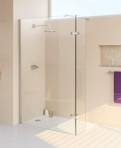 mampara fija puerta de ducha enjoy de huppe. Black Bedroom Furniture Sets. Home Design Ideas