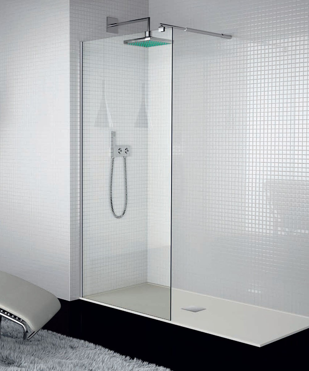 Mampara de ducha cristal fijo tr003 kassandra for Tipos de mamparas para platos de ducha