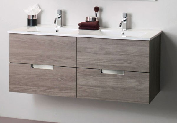 Mueble y lavabo ancho 120 cm evora madero decoraci n ba os for Mueble lavabo 50 ancho