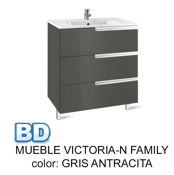 Mueble Baño Roble Gris:mueble de baño victoria-n family gris antracita