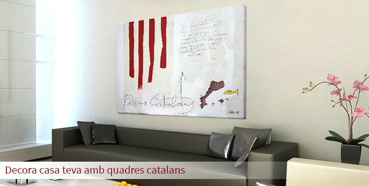 Decora casa teva amb quadres catalans