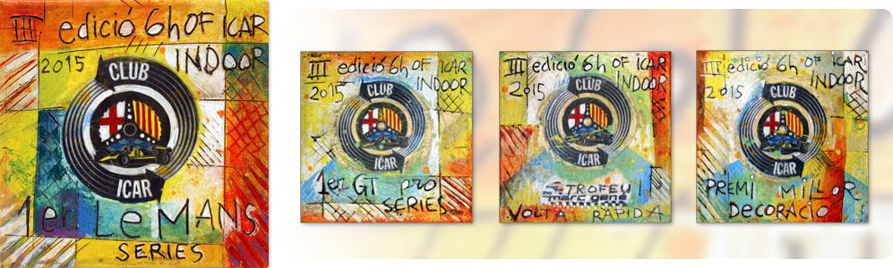 artdelaterra - Quadre pintat a ma per a premi o trofeu