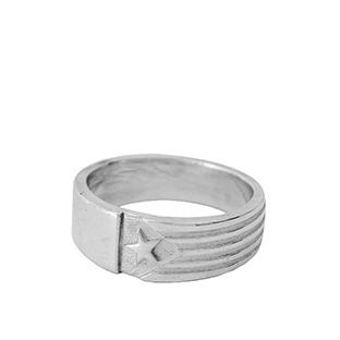 artdelaterra - anell de plata amb estelada