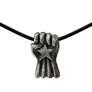 artdelaterra - Penjoll de plata amb puny i estel