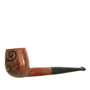 artdelaterra - Pipa de fumar amb 4 barres i trisquel pirogravat