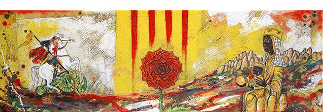 artdelaterra - quadre personalitzat amb St. Jordi i Moreneta