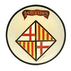 Plat amb escut de Barcelona