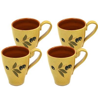 4 Tasses amb ansa de ceràmica