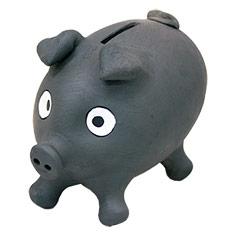 Porquet guardiola de ceràmica negre