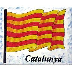 Rajola amb Senyera i 'Catalunya' escrit