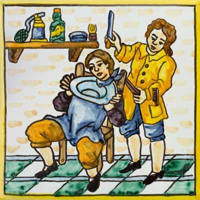 Rajola amb ofici de Barber